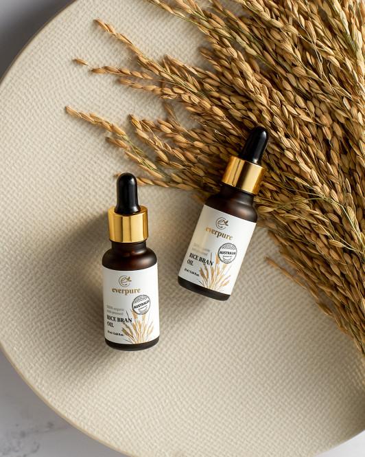 EVERPURE Rice Bran Oil - 100% Organic Cold-Pressed