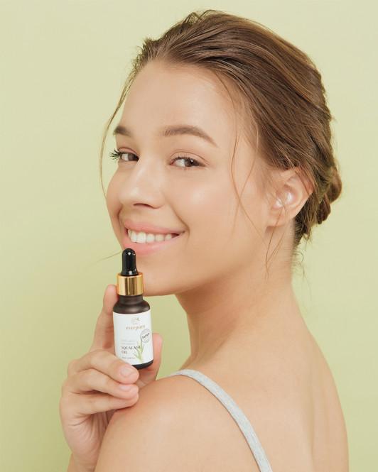 EVERPURE Squalane Oil - 100% Organic Plant-Derived