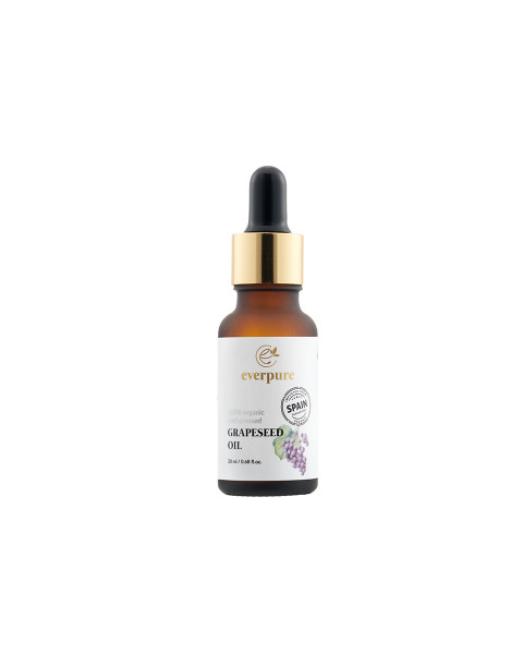 EVERPURE Grapeseed Oil - 100% Organic Cold-Pressed